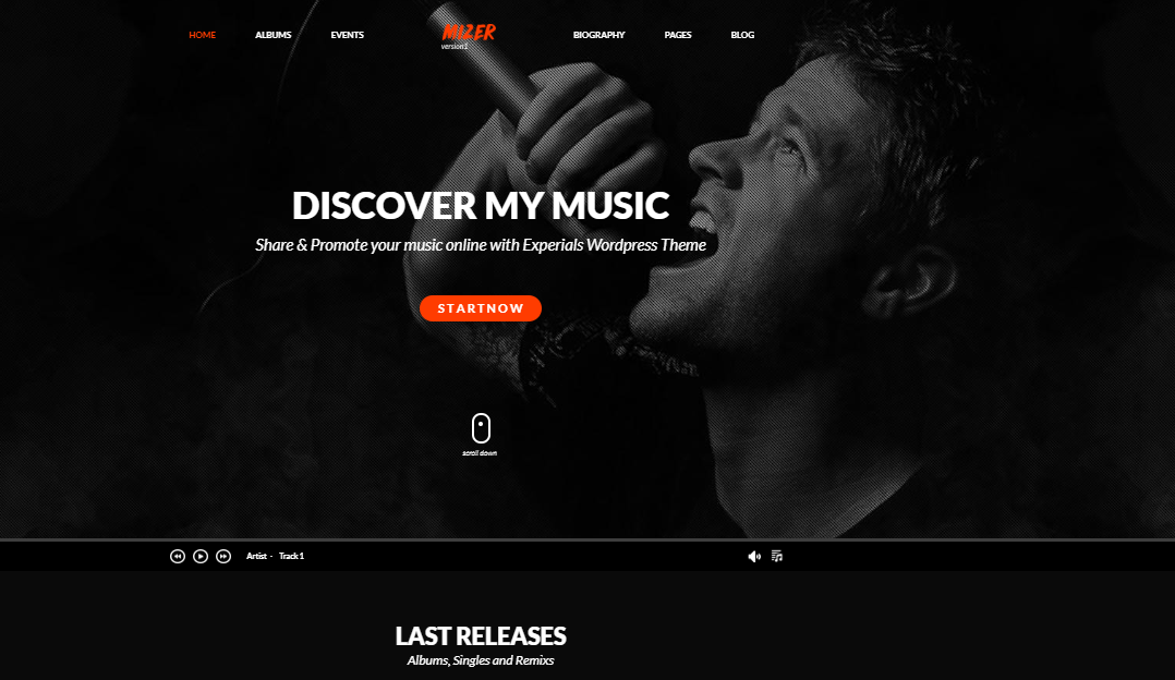 Mizer WordPress Theme for Musicians