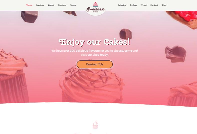 Sweetness One Page WordPress Theme